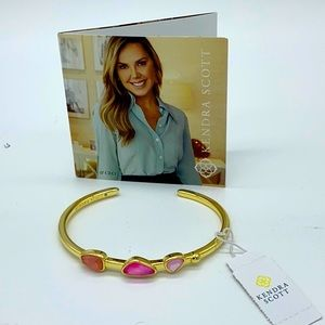 Kendra Scott Ivy Gold Cuff Bracelet Deep Blush